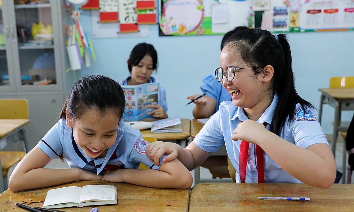 Việt Nam được đánh giá cao về kết quả học tập tiểu học