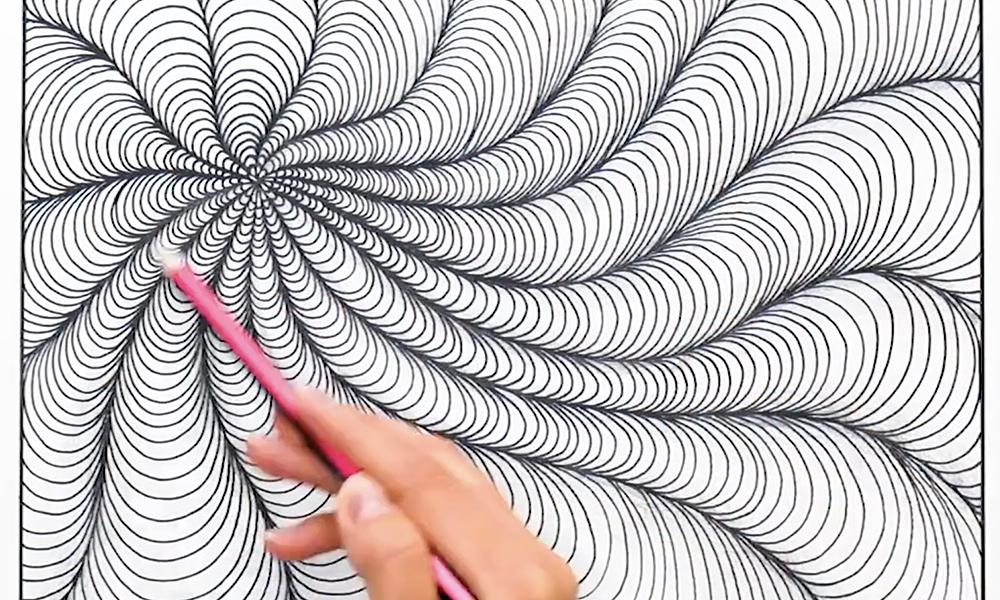 Vẽ tranh bằng cách lặp lại các nét đơn giản