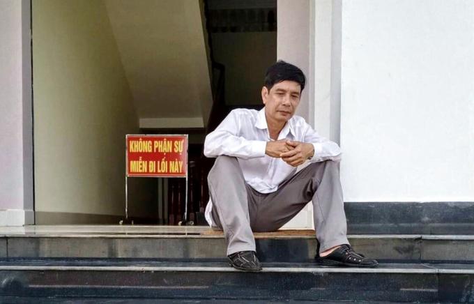 Ông Lương Hữu Phước trong lúc chờ tuyên án phúc thẩm ngày. Ảnh: Luật sư cung cấp