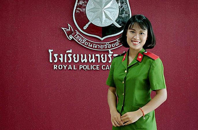 Nữ sinh tốt nghiệp xuất sắc Học viện Cảnh sát nhân dân