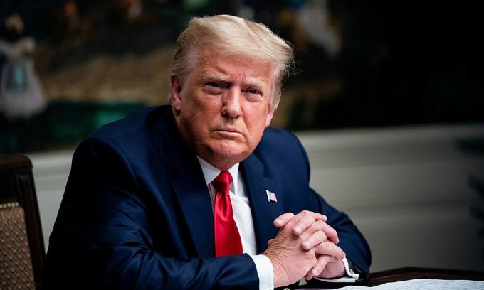 Tổng thống Trump tại Nhà Trắng ngày 26/11. Ảnh: AFP.