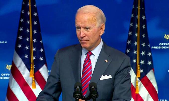 Joe Biden phát biểu tại Wilmington, bang Delaware hôm 3/12. Ảnh: CNN.