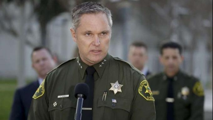 Cảnh sát trưởng quận Cam Don Barnes năm 2019. Ảnh: AP