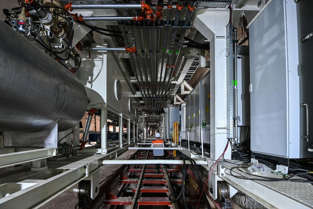 Công trường lắp ráp robot đào hầm
