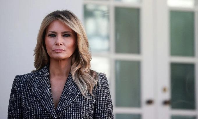 Đệ nhất phu nhân Mỹ Melania Trump trong Nhà Trắng. Ảnh: Me