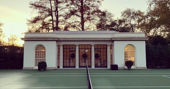 Sân tennis mới trong Nhà Trắng. Ảnh: Nhà Trắng