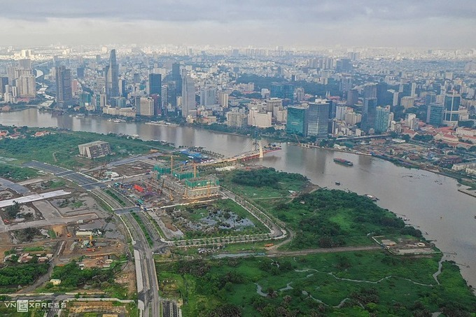 Quận 2 với trung tâm là Khu đô thị mới Thủ Thiêm sẽ là một phần của Thành phố Thủ Đức. Ảnh: Hữu Khoa