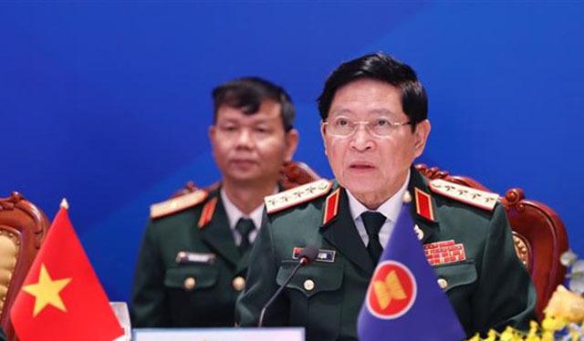 Đại tướng Ngô Xuân Lịch, Bộ trưởng Quốc phòng Việt Nam chủ trì hội nghị ADMM-14. Ảnh: TTXVN