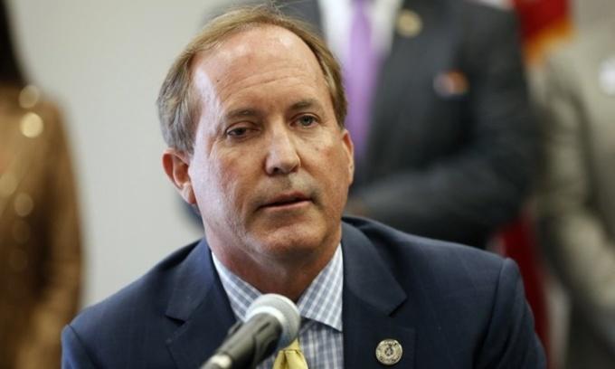 Tổng chưởng lý bang Texas Ken Paxton phát biểu tại thành phố Austin hồi tháng 9. Ảnh: AP.