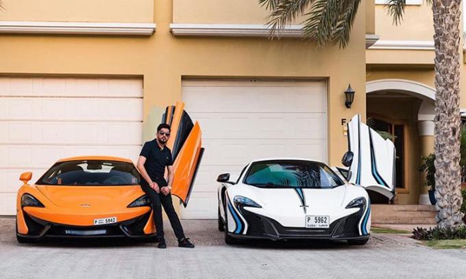 Nagar có ít nhất hai chiếc McLaren hai màu khác nhau.