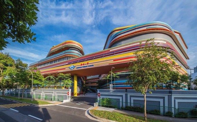 Trường Tiểu học Nanyang là một trong chín trường triển khai Chương trình giáo dục năng khiếu tại Singapore. Ảnh: Inhabitat.