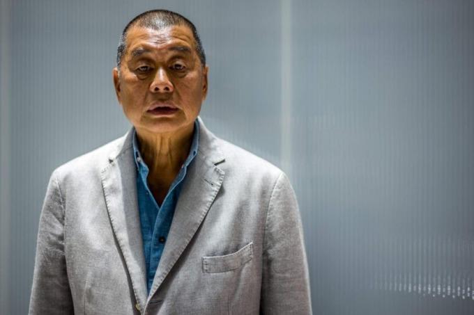 Jimmly Lai trong cuộc phỏng vấn với báo AFP ở Hong Kong hồi tháng 6. Ảnh: AFP.