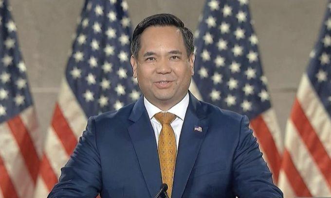 Reyes phát biểu tại Đại hội toàn quốc đảng Cộng hòa ngày 27/8. Ảnh: AP