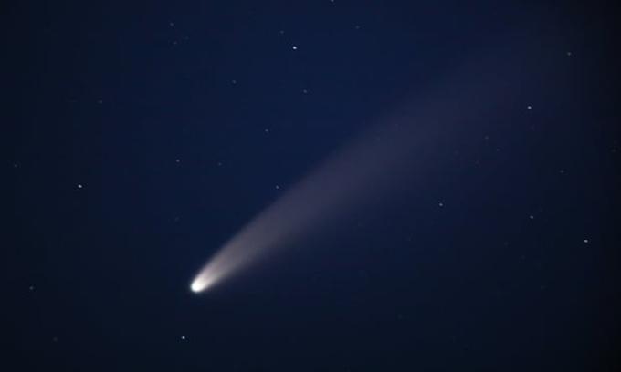 Ảnh chụp sao chổi Neowise tháng 3/2020. Ảnh: Alexander Ryumin/Tass.
