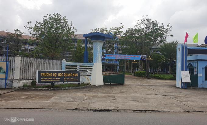 Trường ĐH Quảng Nam nằm trên đường Hùng Vương rộng 6.8 ha. Ảnh: Sơn Thủy..