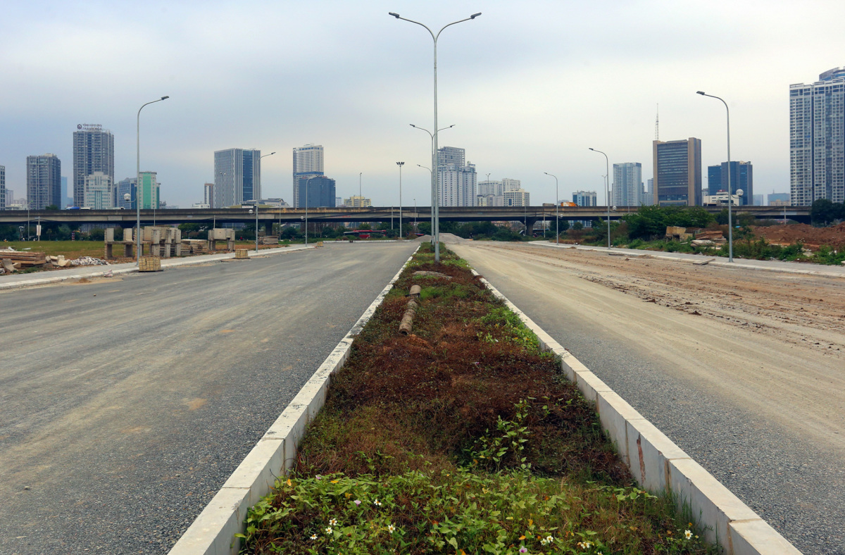 Đường 8 làn xe nối hai tuyến vành đai thủ đô