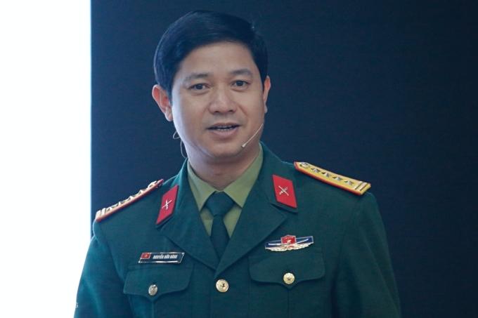 Đại tá TS Nguyễn Hữu Hùng, Giám đốc Học viện Kỹ thuật mật mã. Ảnh: Thanh Hằng