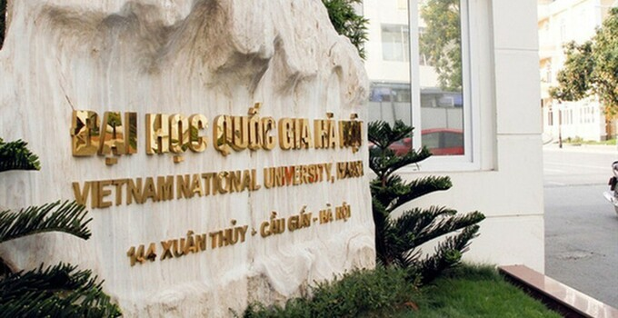Góc cổng Đại học Quốc gia Hà Nội ở Cầu Giấy, Hà Nội. Ảnh: VNU.