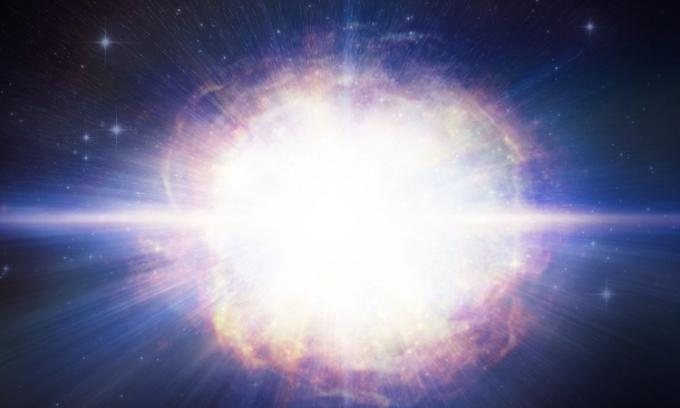 Mô phỏng siêu tân tinh SN2016aps. Ảnh:CNN.