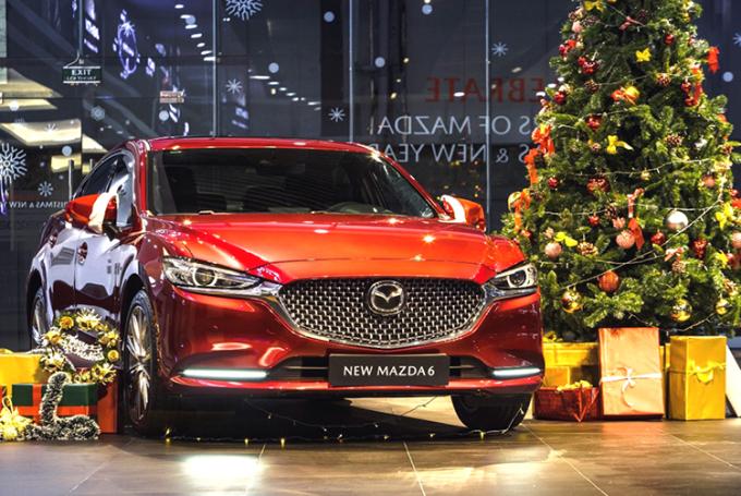 New Mazda6 tại một showroom chính hãng. Ảnh: Thaco.