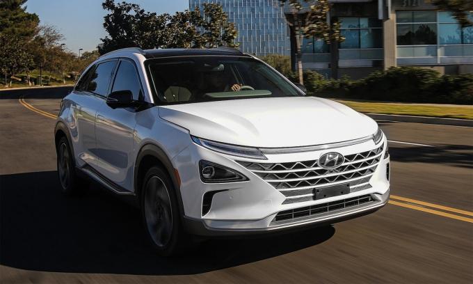 Nexo - crossover dùng pin nhiên liệu hydro. Ảnh: Hyundai