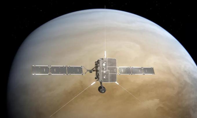 Minh họa tàu Solar Orbiter bay tới sát sao Kim. Ảnh: ESA/ATG medialab.
