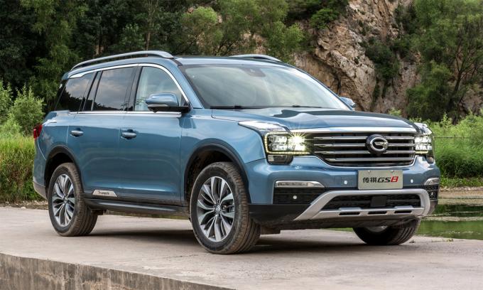 GS8, mẫu SUV thuộc thương hiệu GAC đã bán tại Mỹ. Ảnh: GAC