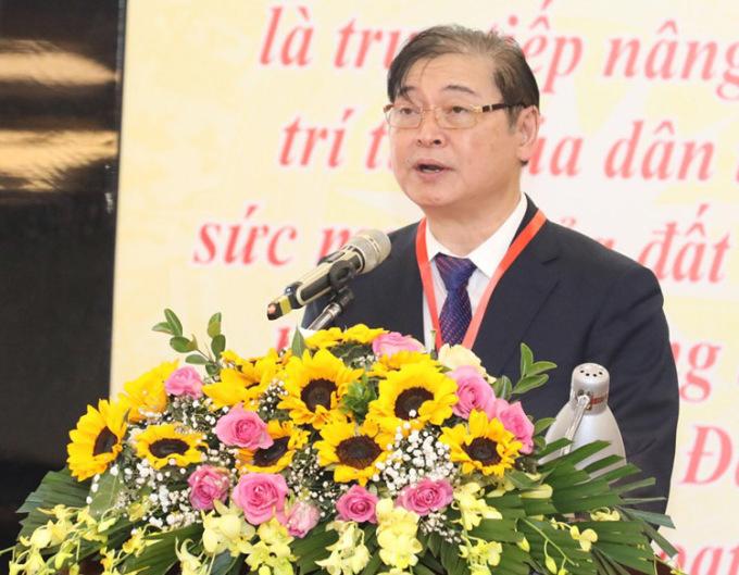 Ông Phan Xuân Dũng phát biểu tại đại hội. Ảnh: Anh Tuấn.