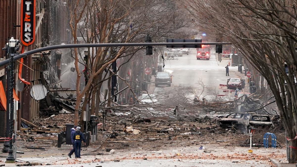 Cảnh tan hoang sau vụ nổ Nashville