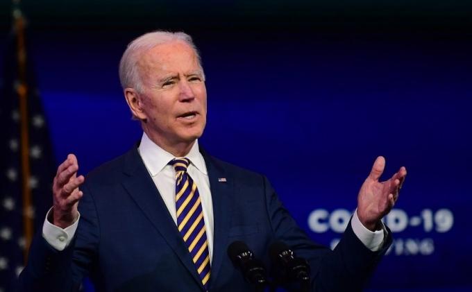 Joe Biden phát biểu ở Wilmington, Delaware, Mỹ, hôm 29/12. Ảnh: AFP.