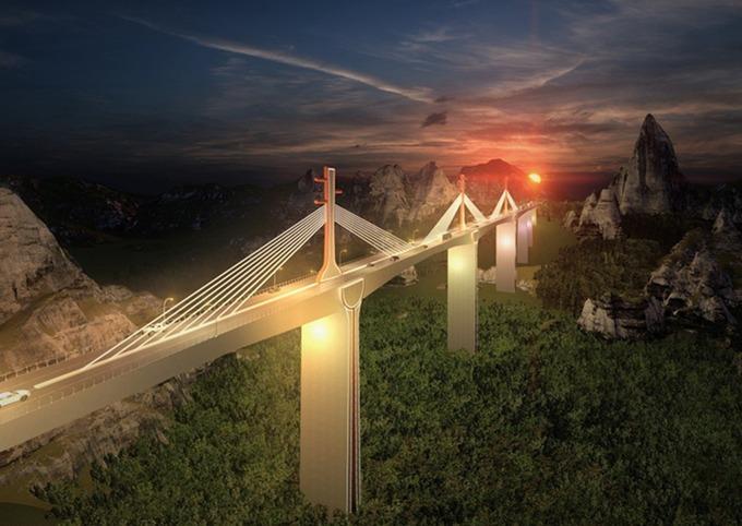Một cây cầu có hình ảnh đàn tính trong phương án đạt giải A. Ảnh: A2Z