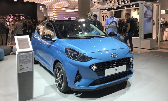 Hyundai i10 thế hệ mới tại triển lãm Franfurt 2019. Ảnh: Thành Nhạn