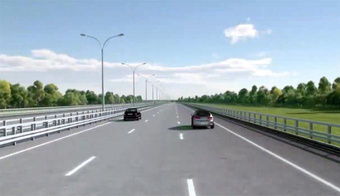 Thiết kế cao tốc Mỹ Thuận - Cần Thơ 6 làn xe. Ảnh: Tổng công ty đầu tư phát triển và quản lý hạ tần giao thông Cửu Long