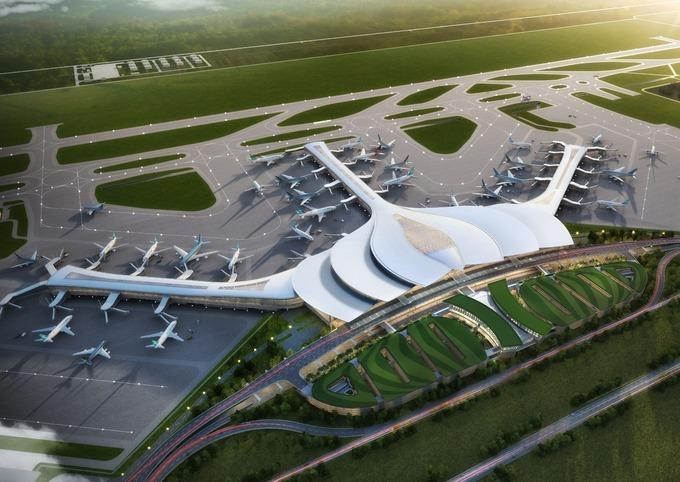 Phối cảnh sân bay quốc tế Long Thành. Ảnh: ACV.