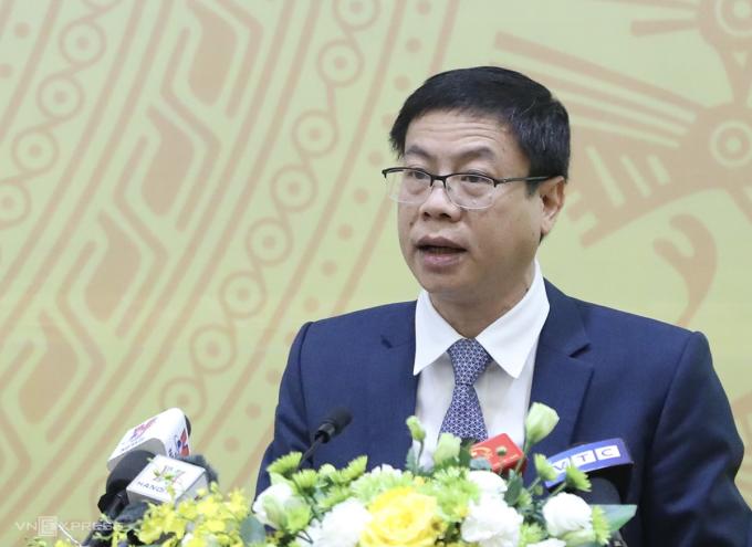 Thứ trưởng Lê Xuân Định báo cáo các kết quả hoạt động năm 2020. Ảnh: Ngọc Thành.