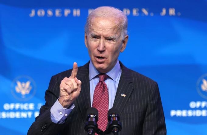 Joe Biden tại Delaware ngày 8/1. Ảnh: AFP.