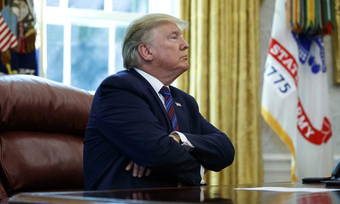 Tổng thống Donald Trump tại Nhà Trắng hồi tháng 7/2019. Ảnh: AP.