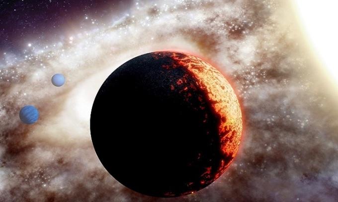 Mô phỏng hệ sao của ngoại hành tinh TOI-561b. Ảnh: NASA.