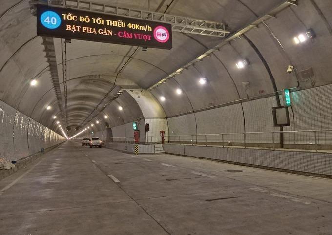 Hầm Hải Vân 2 đã hoàn thành song chưa được vận hành chính thức. Ảnh:Anh Duy