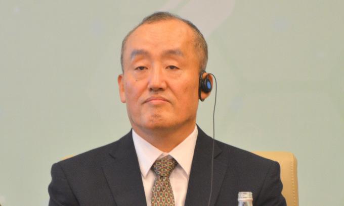 Trưởng đại diện WHO Kidong Park trong cuộc tọa đàm ngày 15/1. Ảnh: Vũ Anh.