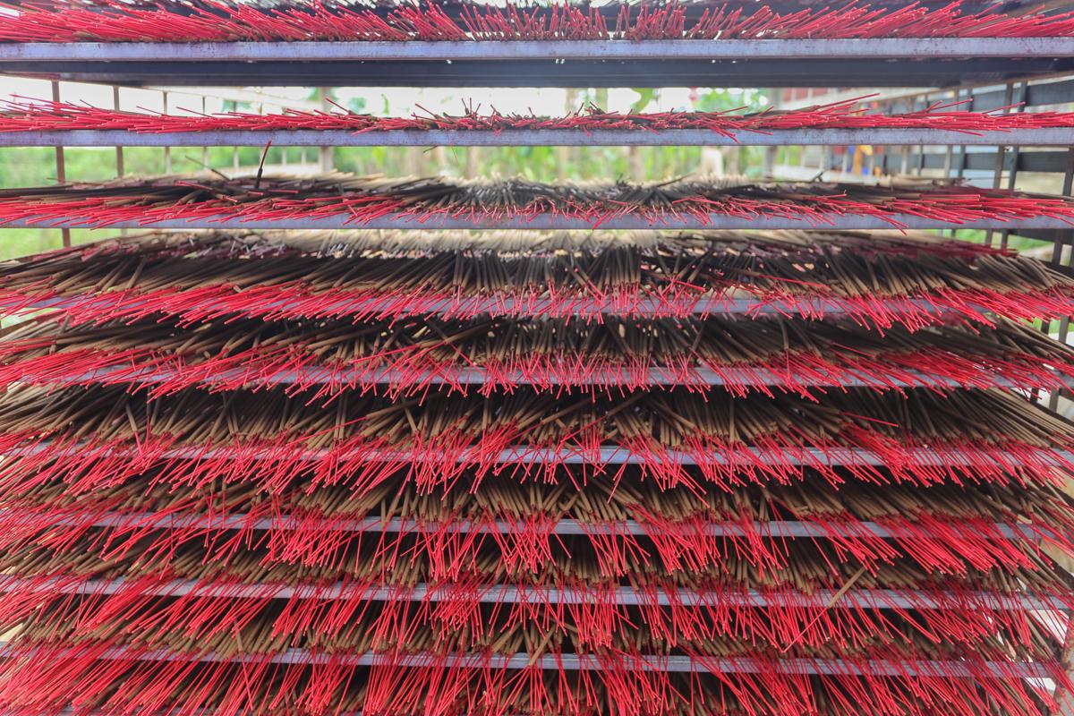 Làng nghề làm hương ở Quảng Nam vào vụ Tết