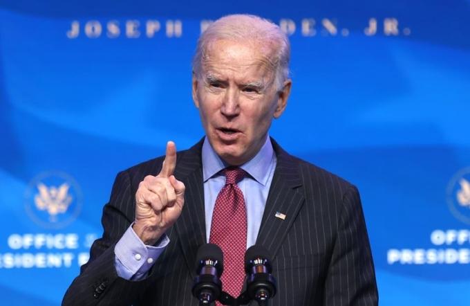 Tổng thống đắc cử Joe Biden tại Delaware ngày 8/1. Ảnh:AFP.