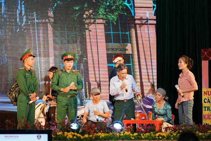 Tiểu phẩm về an toàn giao thông tại cuộc thi. Ảnh: Honda Việt Nam.