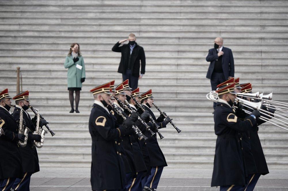 Buổi tổng duyệt lễ nhậm chức của Biden