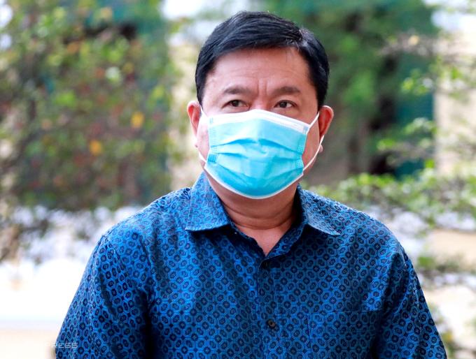 Ông Đinh La Thăng trong phiên toà ở TP HCM, tháng 12/2020. Ảnh: Hữu Khoa.