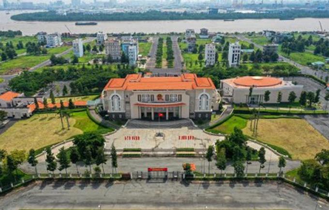 Trụ sở UBND quận 2 ở đường Trương Văn Bang được đề xuất làm nơi làm việc của UBND TP Thủ Đức. Ảnh:Website quận 2.
