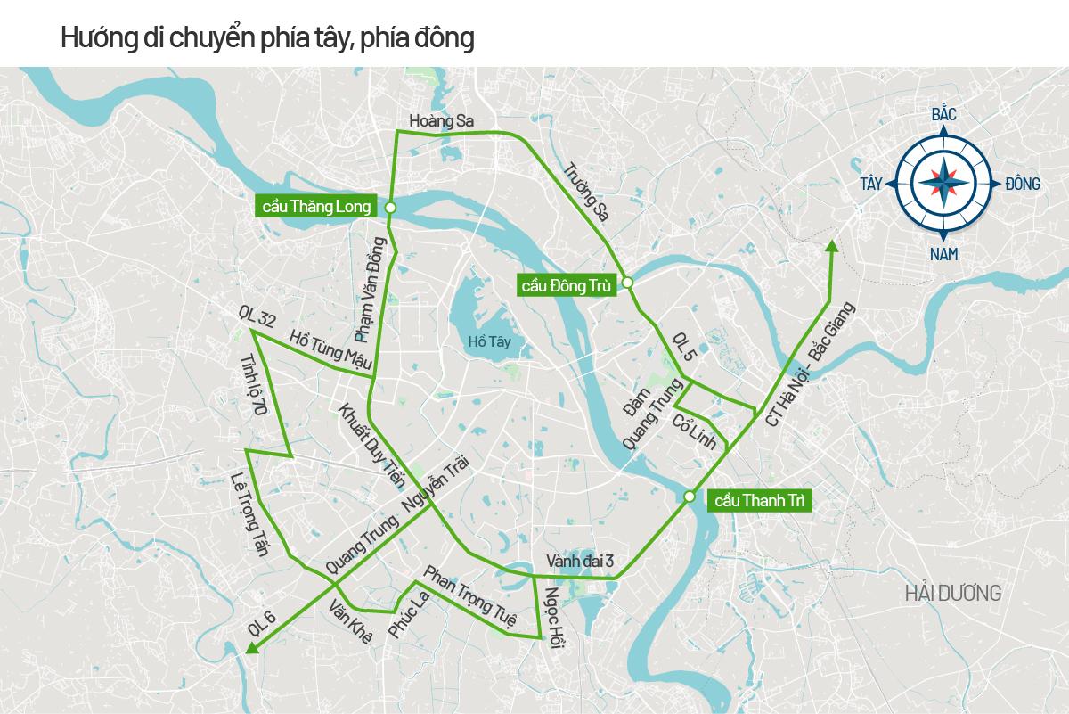 Bản đồ cấm đường phục vụ Đại hội Đảng