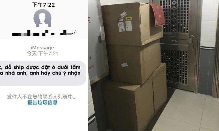 Khách tròn mắt khi nhận hàng của shipper