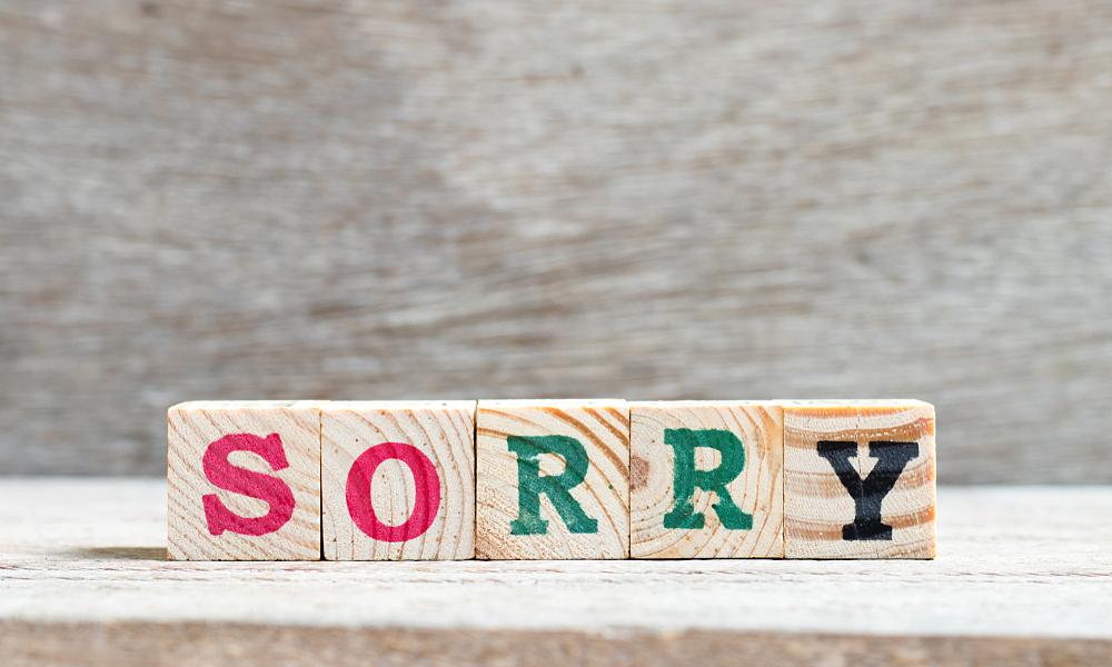 Cách dùng từ 'sorry'