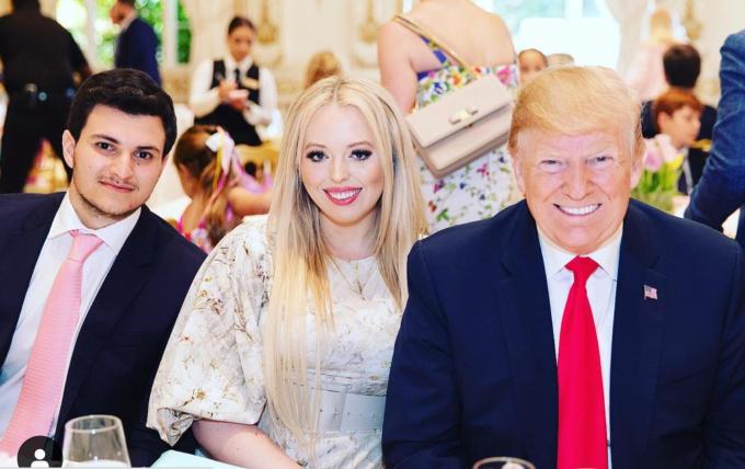 Michael, Tiffany và Trump. Ảnh: Instagram/Michael Boulos.